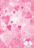 Heart valentines day background — Vector de stock