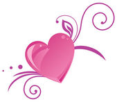 Romantic heart silhouette — Stock Vector