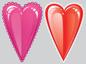Romantic heart red — Stock Vector