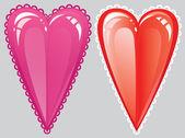 Romantické srdce červené — Stock vektor