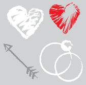 Elementos de design romântico — Vetor de Stock
