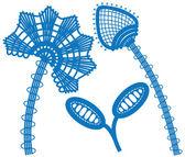 抽象的な花の要素 — ストックベクタ