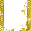 Stock Photo: Golden frame