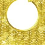 moldura dourada — Foto Stock