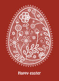 Lace easter egg — Stock Vector