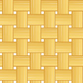 Woven straw seamless background — Stock Vector