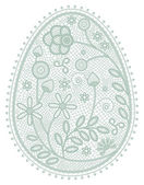 Lace egg — Stock Vector