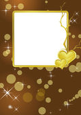 Golden frame background — Stock Vector