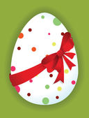 Roliga ägg med en röd rosett — Stockvektor
