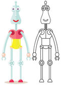 Funny robot — Stockvektor