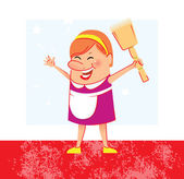 Cleaning woman — Vector de stock
