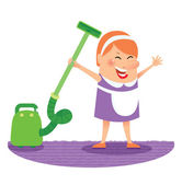 Cleaning woman — Stock Vector