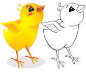 Surprised chicken — Stockvektor