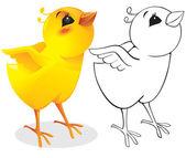 Surprised chicken — Stock Vector