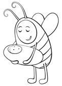 1670 - niño y su madre abeja — Vector de stock