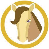 Horse's head in circle — Stockvektor