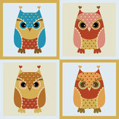 Owl seamless background — Stock Vector
