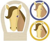 Horse muzzle — Stockvektor