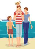 счастливая семья — Cтоковый вектор