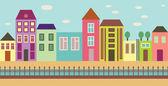 Calle de la ciudad — Vector de stock