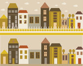 City street — Vector de stock