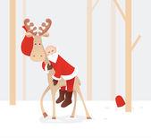 Trötta jultomten — Stockvektor