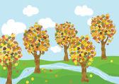 Autumn landscape — Stockvektor