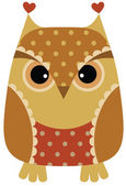 Funny cartoon owl — Vector de stock