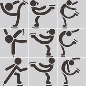 Figure skating icon — Vettoriale Stock