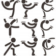 Figure skating icons set — Stock Vector #33607181