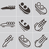 Bobsled icons — Stockvektor