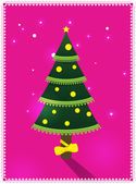 Card with Christmas tree — Stock Vector