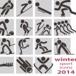 winter sport pictogrammen — Stockvector