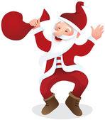 Happy Santa Claus — Stock Vector