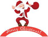 Happy santa claus — Stock vektor