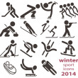 Stock Vector: Winter sport icons