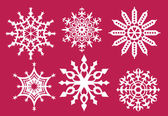 Conjunto de copos de nieve — Vector de stock