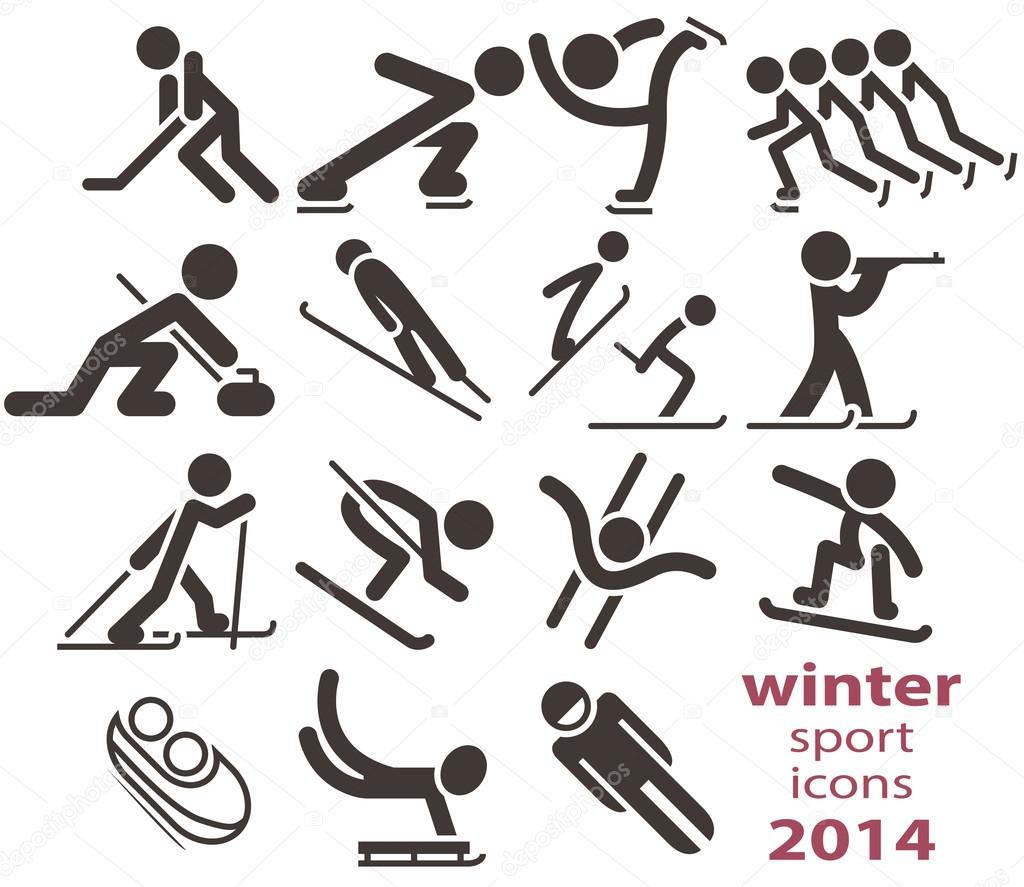 Схематические рисунки зимних видов спорта фото 793