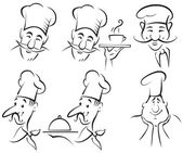 Chef cook - set — Vector de stock