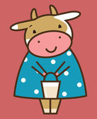 Vaca gracioso — Vector de stock