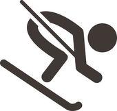 Downhill skiing — Stock Vector