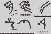 Tauchen symbole — Stockvektor
