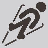 Salto en esquí — Vector de stock