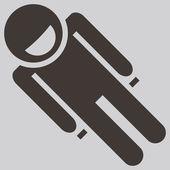 Toboggan icon — Stock Vector