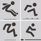 Long jump — Stockvektor