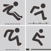 Long jump — Stock Vector