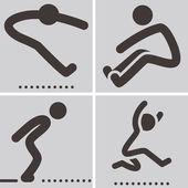 Long jump icon — Stock Vector