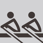 Rowing icon — Stock Vector