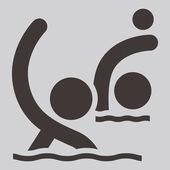 Ícone de polo aquático — Vetor de Stock