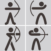 Archery icons — Vettoriale Stock